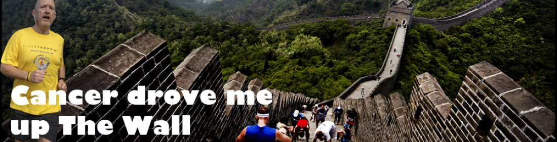 Cancer drove me up The Great Wall of China